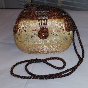 Mary Frances Exquisite Satin Brocade Handbag
